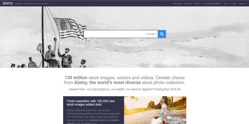 Almy Stock Photography website