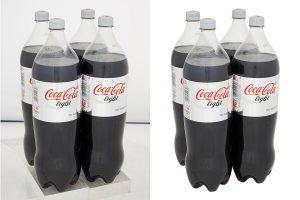Bottle product photo editing