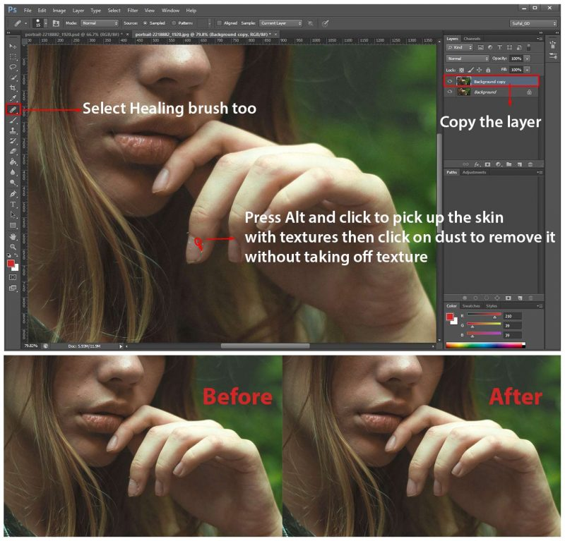 How to Use The Healing Brush Tool in Photoshop