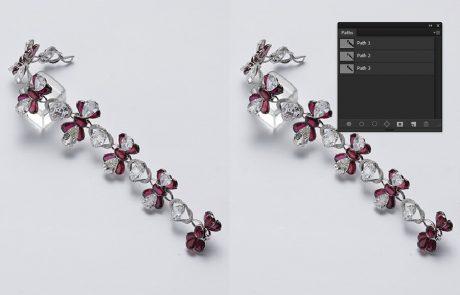 Jewelry multi clipping path service