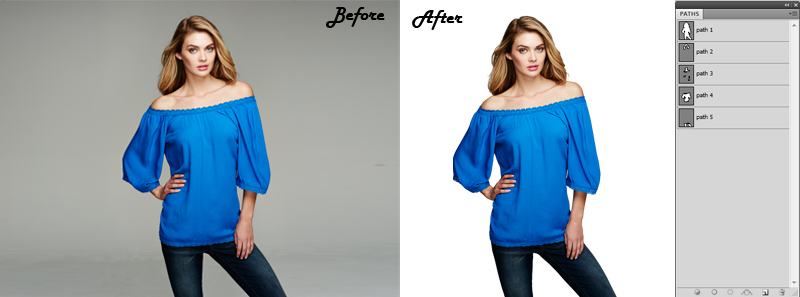 Multi Clipping path of a model