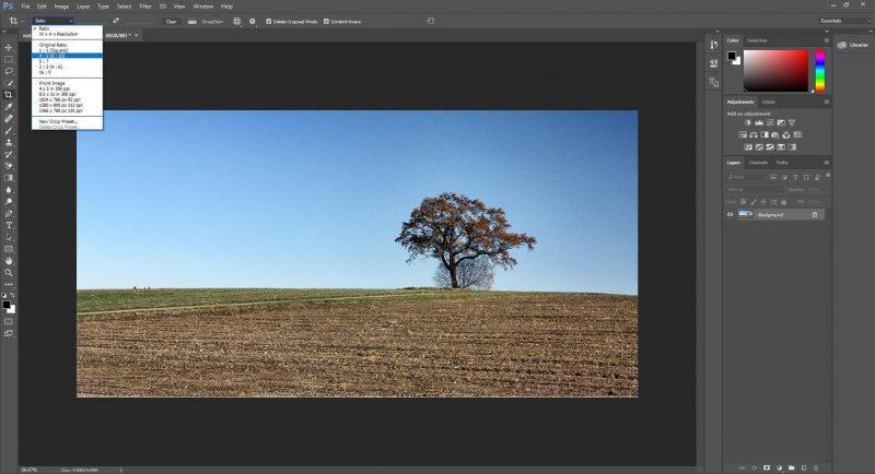 Crop ratio and Straighten Images