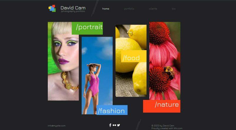 Photography portfolio website