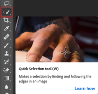 Remove Image Background in Photoshop using Quick Selection Tool