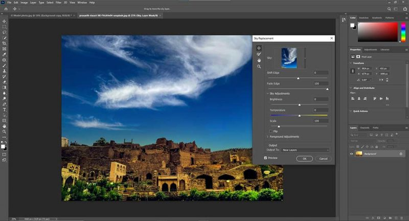Use Sky Replacement too in photoshop