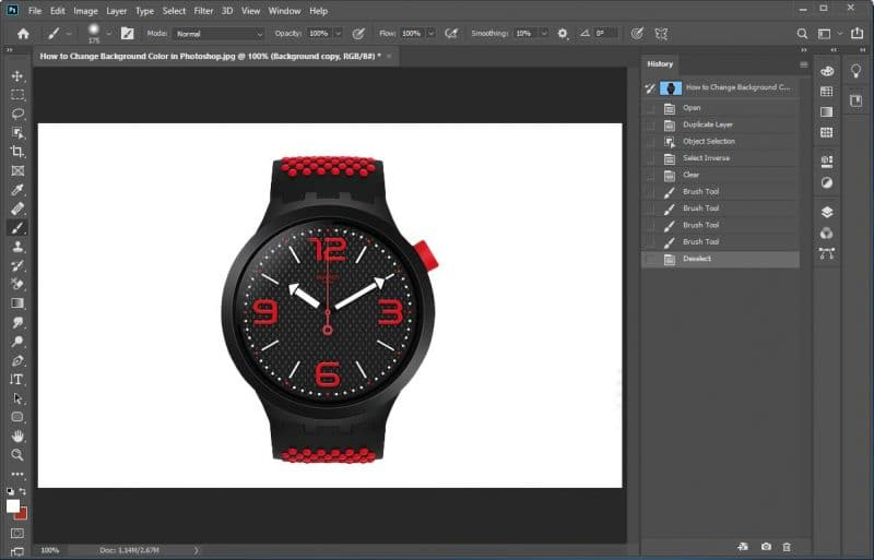 How to Change Background Color in Photoshop using Object Selection tool - step 9