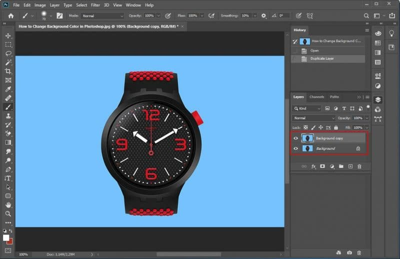 How to Change a Background Color in Photoshop - Step - 2