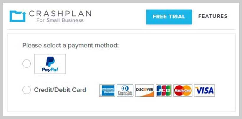 CrashPlan - Payment Method