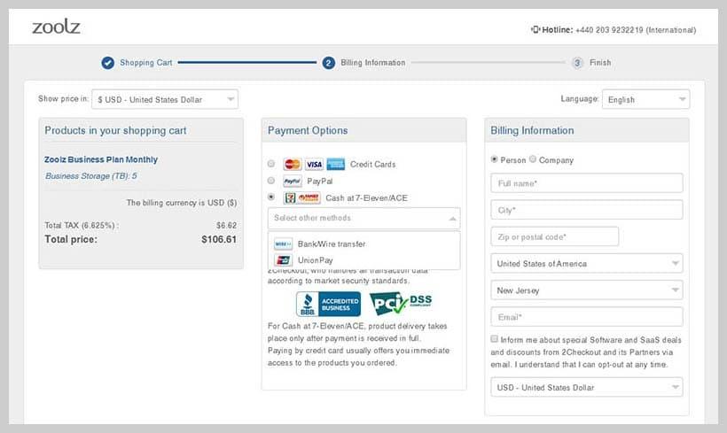 zoolz - Payment Method