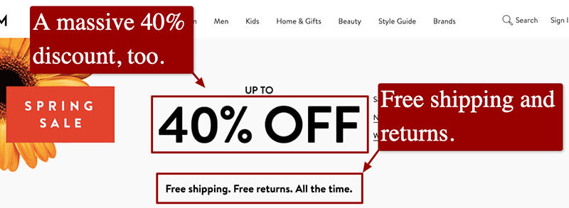 Customers are incentivized by free and expedited shipping