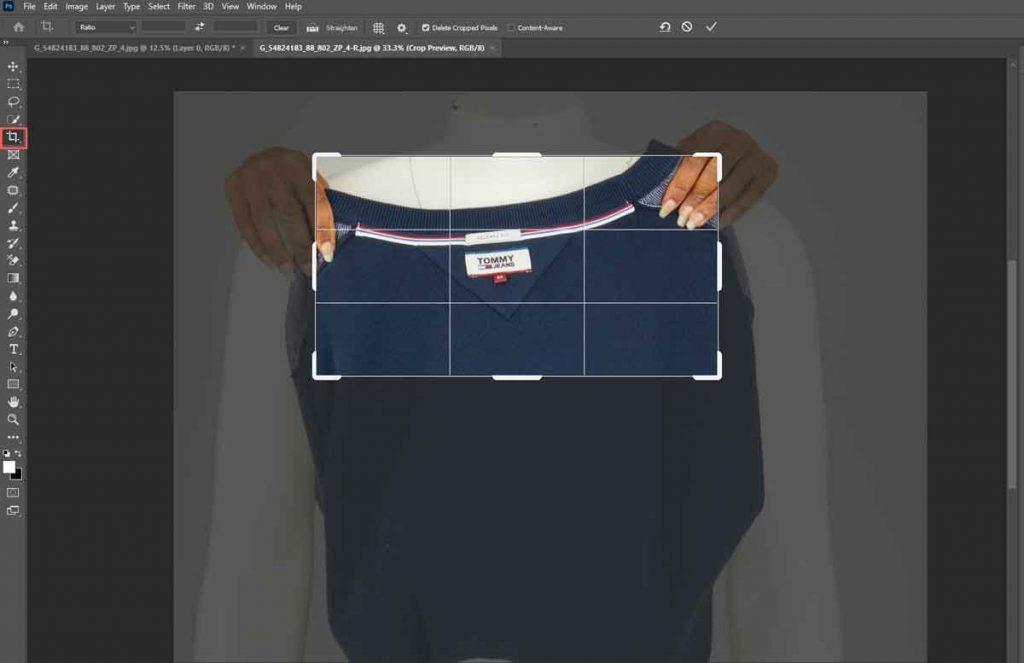 Cut the collar image