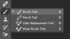 Select the Brush Tool